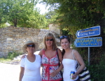 Click for full details of 3 Douris Women at the entrance to Akamatra village on Ikaria
